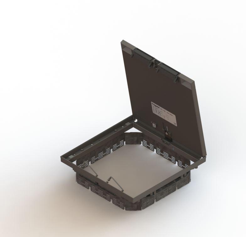 Dekselset Aluminium Vierkant Met Markeerrand Legrand Services